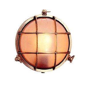 Bullseye wandlamp messing 17,5cm Ø+voet