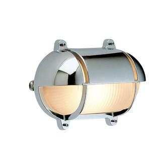 Scheepslamp Bullseye wandlamp chroom 18,2cm