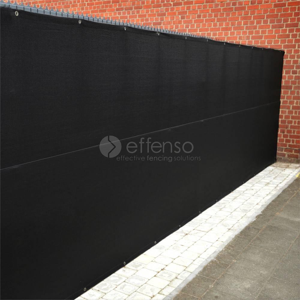 fensonet FENSONET 300gr SCHWARZ 150cm Ösen pro m