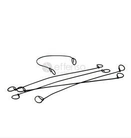Binddrähte twister 1 x 120 mm per 100  Verzinkt
