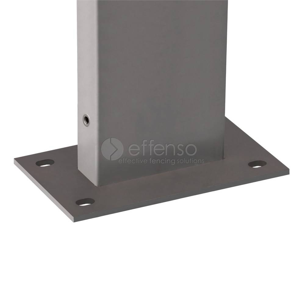 fensofill FENSOFIX Post footplate  H:205cm RAL9006