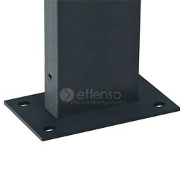 fensofill FENSOFIX Post footplate  H:205cm RAL7016