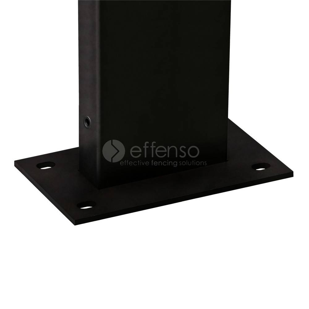 fensofill FENSOFIX Post footplate  H:185cm RAL9005