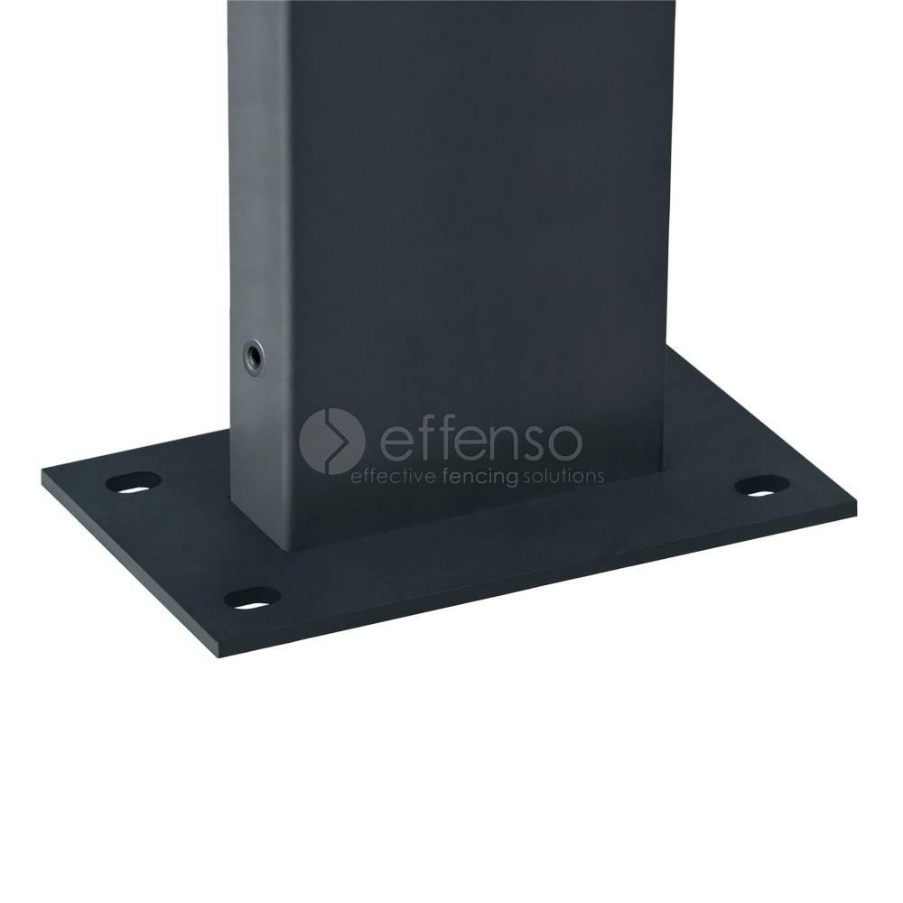 fensofill FENSOFIX Post footplate  H:185cm RAL7016