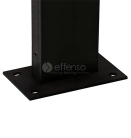fensofill FENSOFIX Poteau platine H:125cm RAL9005