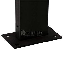 fensofill FENSOFIX Paal voetplaat  H:65cm RAL9005