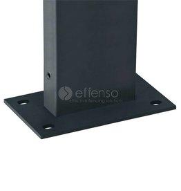 fensofill FENSOFIX Pfoste Füssplatte H:65cm RAL7016