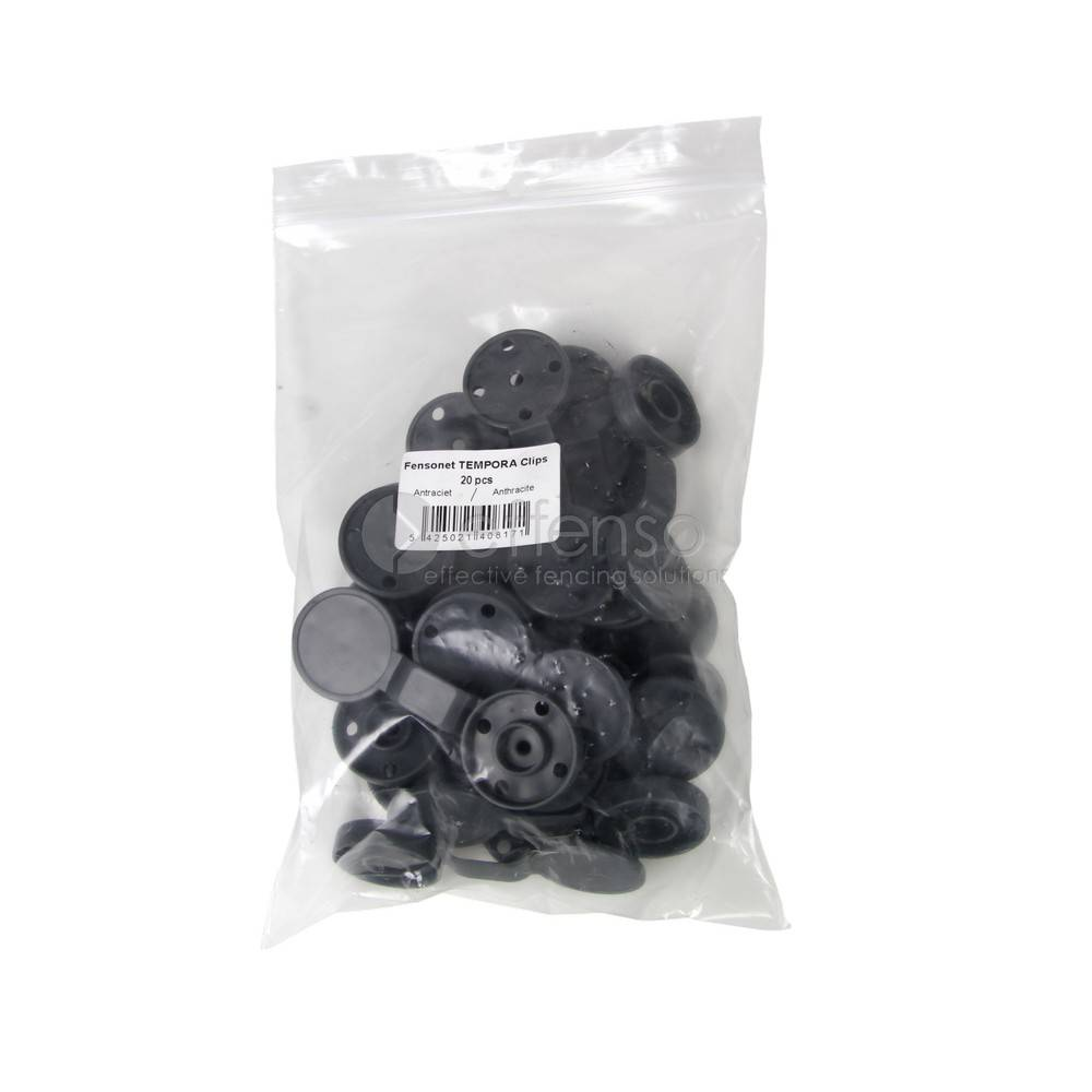 Temporaclips for temporary installation of your sightscreen net Anthracite 20 pcs