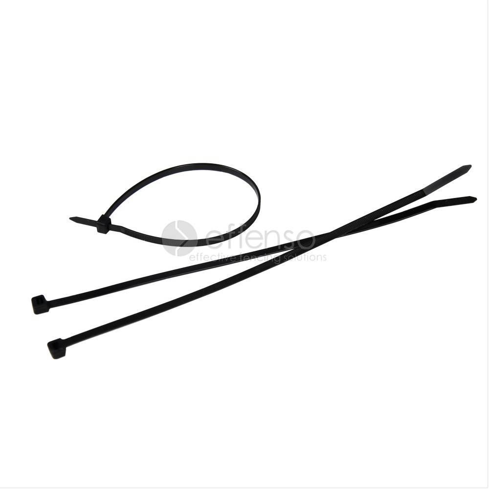 Bindern fur montage Sichtschutznetze Schwarz L: 250 mm 100st