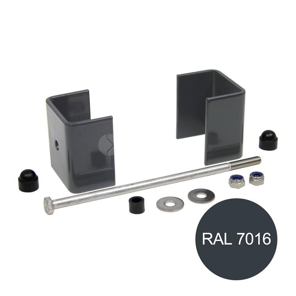 fensofill EASYFIX abrazaderas poste 120x40 Antracite 7016 5pc