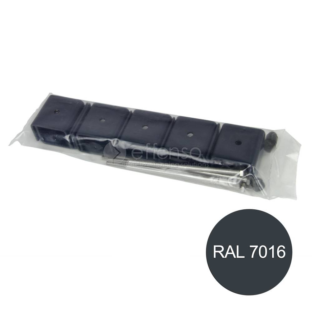 fensofill EASYFIX colliers poteau120x40 anthracite 7016 5pc