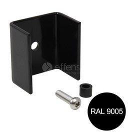 fensofill FENSOFIX abrazaderas poste 120x40 RAL9005 10 pz