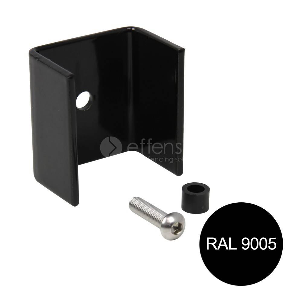 fensofill FENSOFIX Bügel pfoste 120x40 RAL9005 10 st