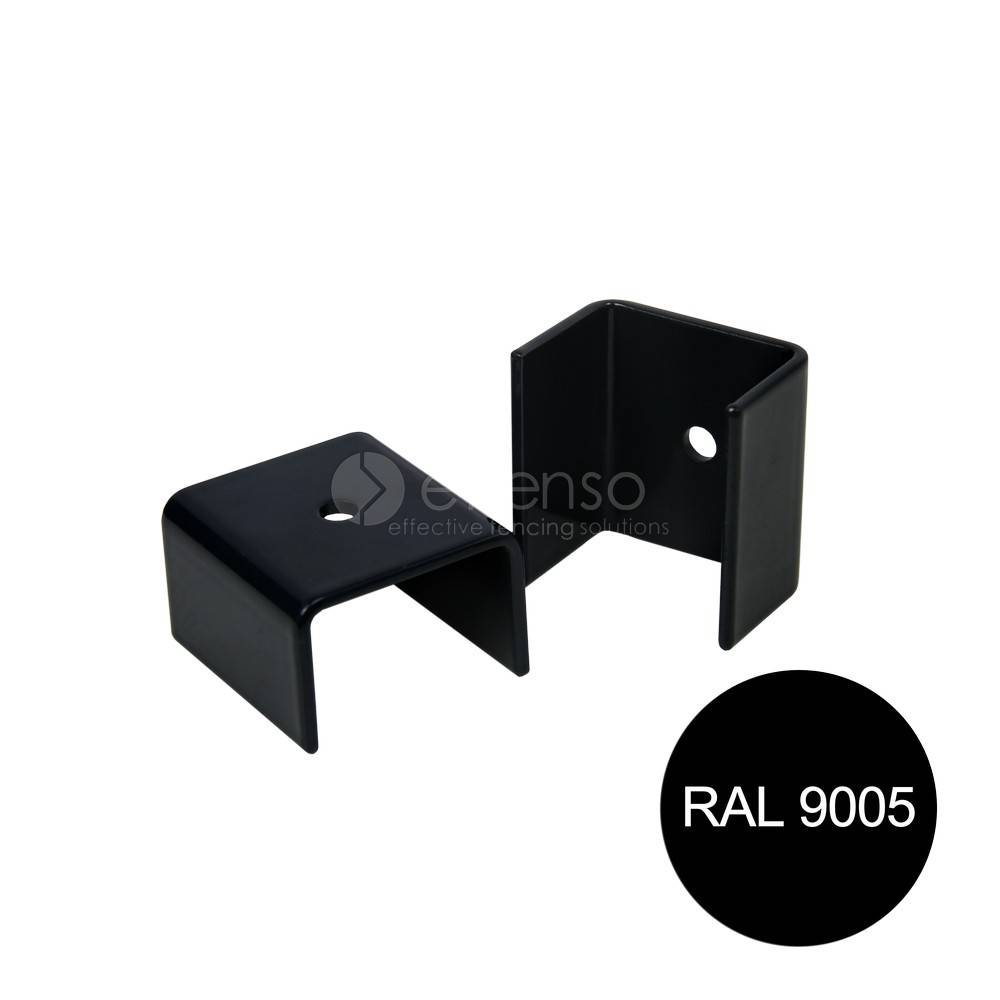 fensofill FENSOFIX Colliers poteau 120x40 RAL9005 10 pcs