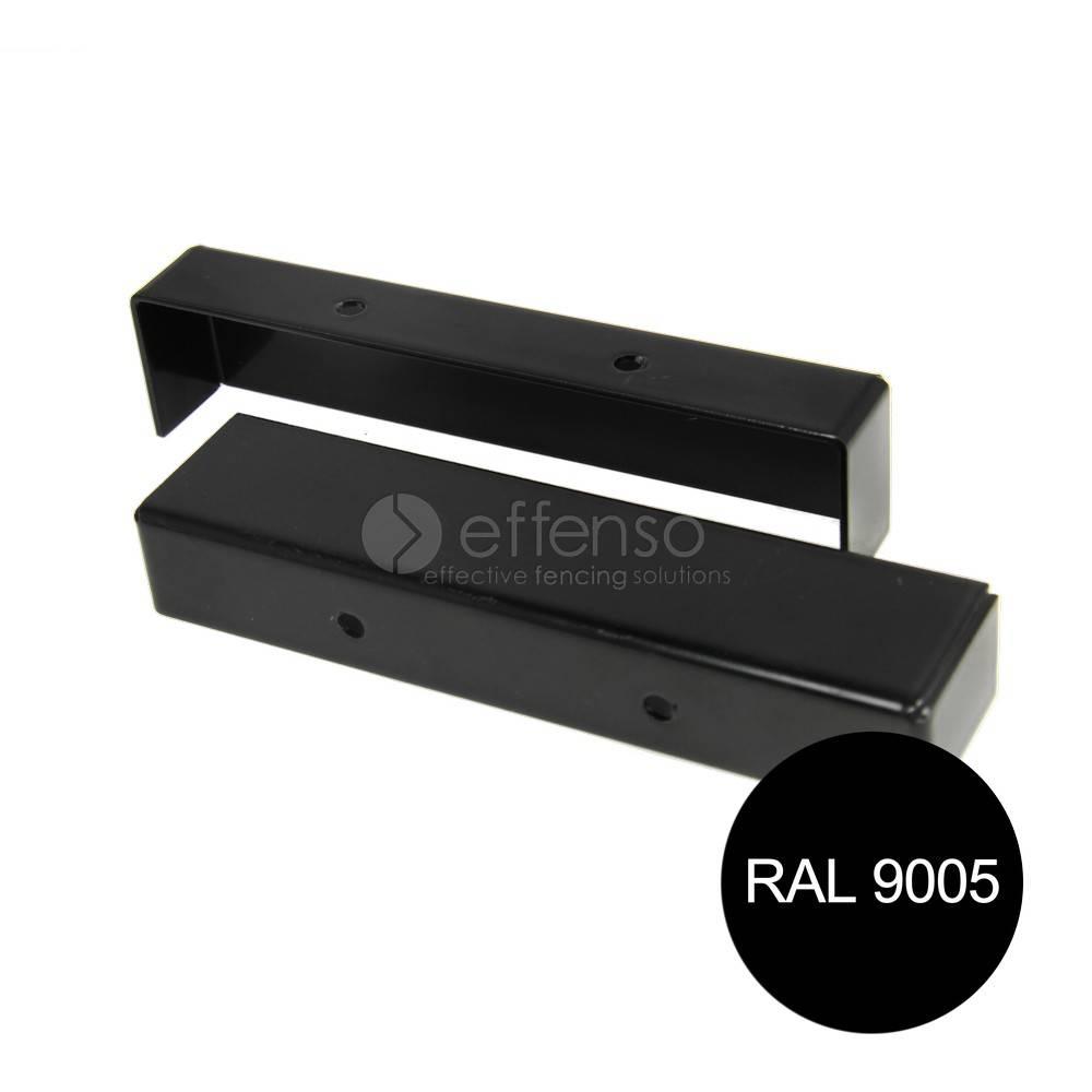 fensofill FENSOFILL Eindkap Afdekplaat 2st Zwart 9005