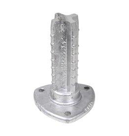 Voetplaat voor ronde paal 60 mm