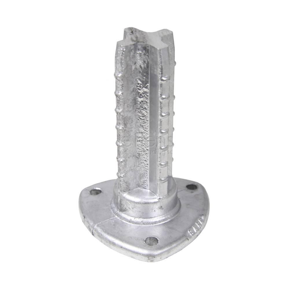 Platine pour poteau rond 60 mm