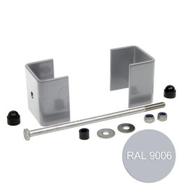 fensofill EASYFIX bügel pfost 120x40 Silvergrau 9006 5st