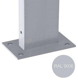 fensofill EASYFIX Poteau platine H: 185cm RAL9006