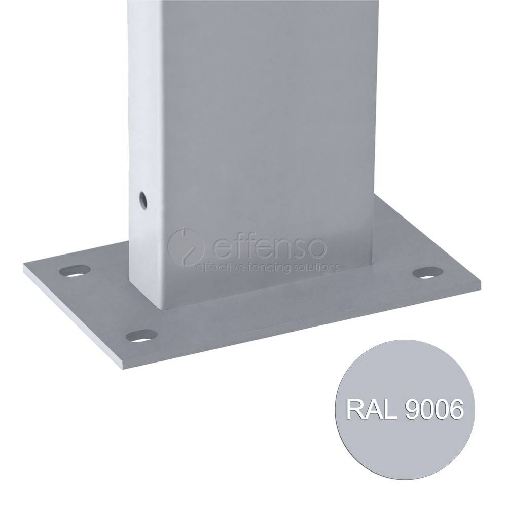 fensofill EASYFIX Pfosten Fussplatte H:185cm  RAL9006