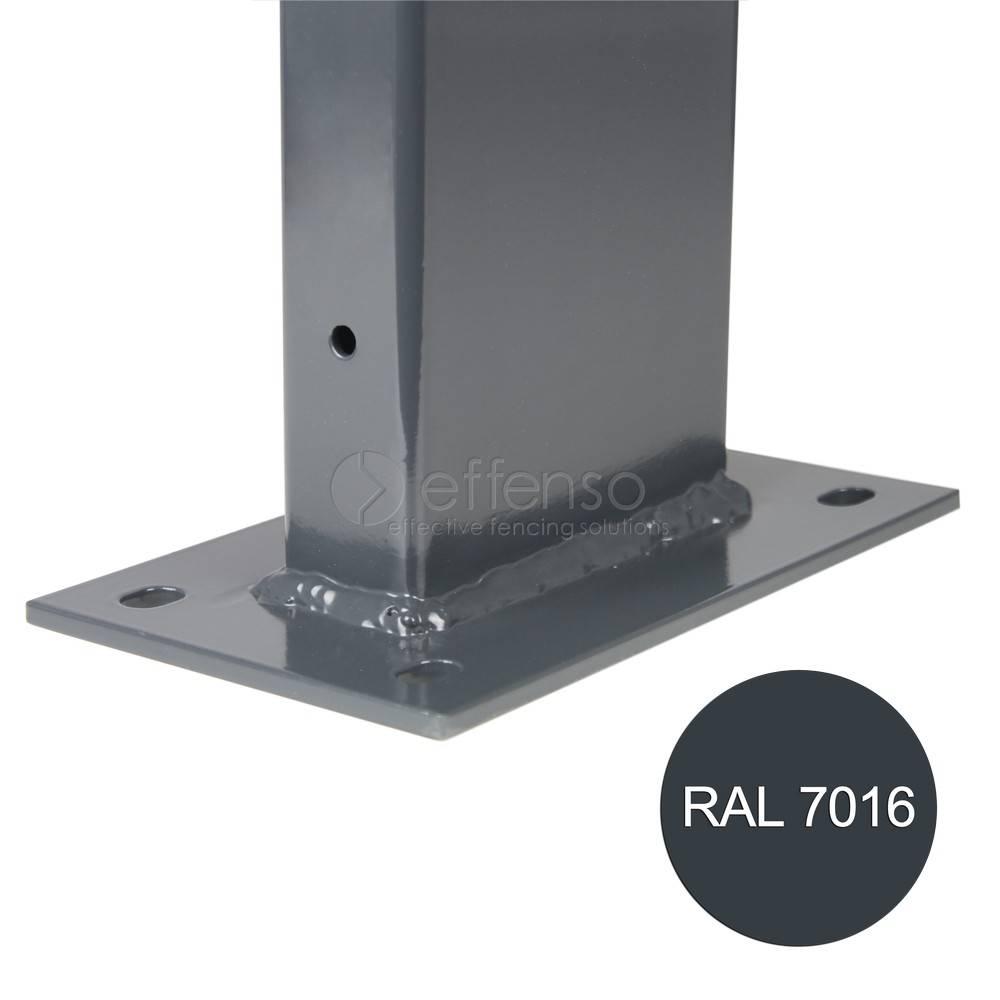 fensofill EASYFIX Poteau platine H: 185cm RAL7016
