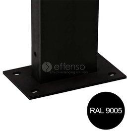 fensofill EASYFIX Pfosten Fussplatte H:155cm  RAL9005