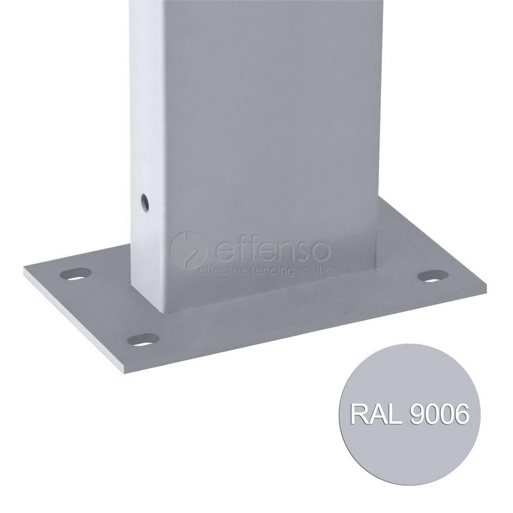 fensofill EASYFIX Poteau platine H: 125cm RAL9006