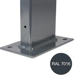 fensofill EASYFIX Pfosten Fussplatte H:65cm  RAL9006