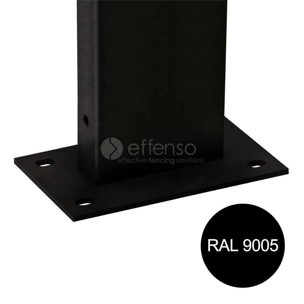fensofill EASYFIX Poteau platine H: 65cm RAL9005