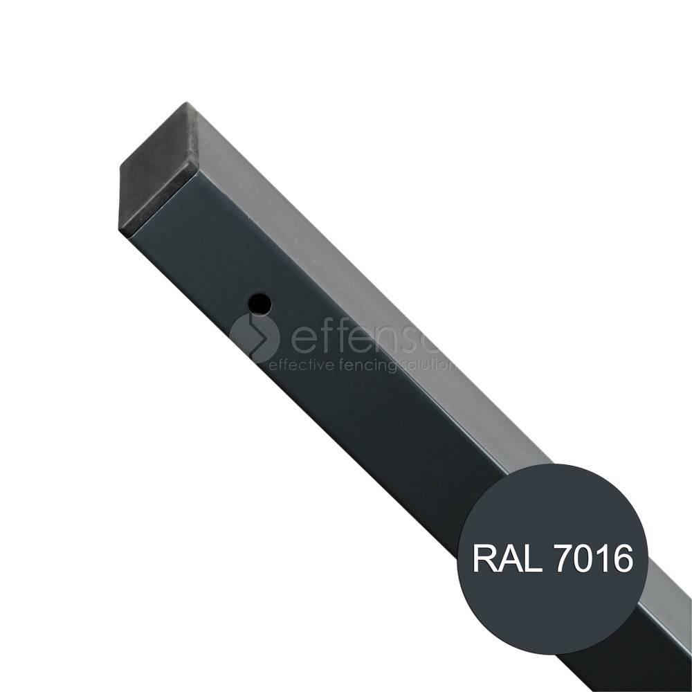 fensofill EASYFIX Poteau platine H: 65cm RAL7016