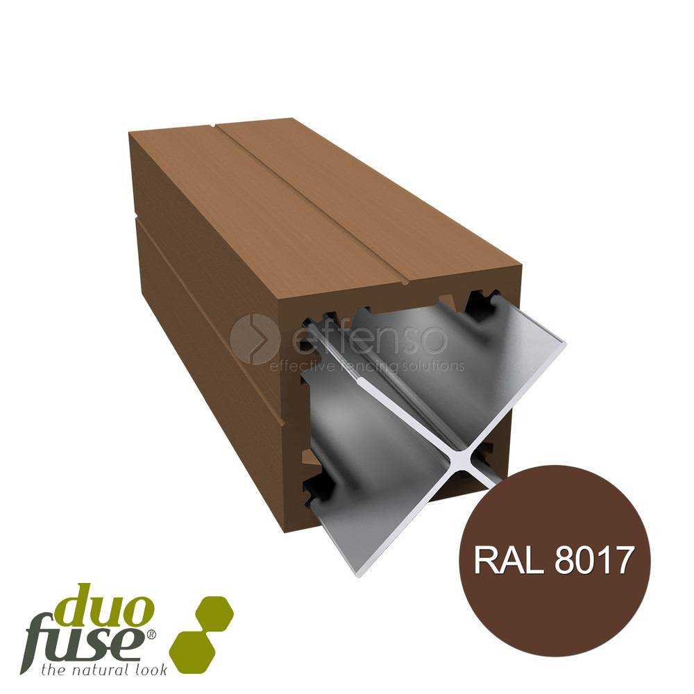 Duo Fuse Paal 90mm L:270cm tropical brown