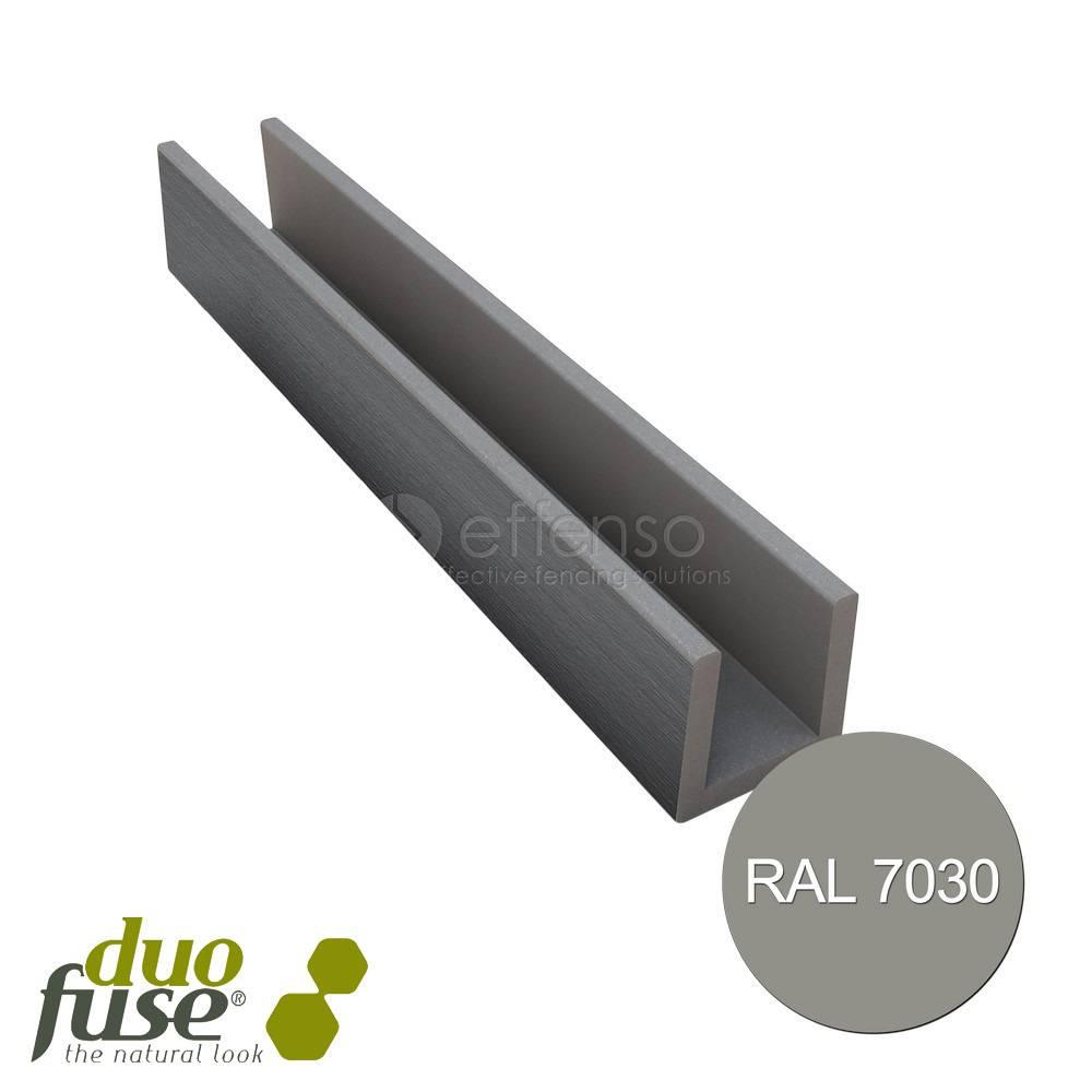 Duo Fuse U-profiel 27mm L:182cm stone grey
