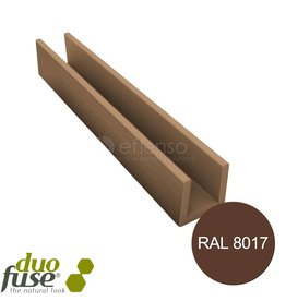 Duo Fuse U-profiel 27mm L:202cm tropical brown