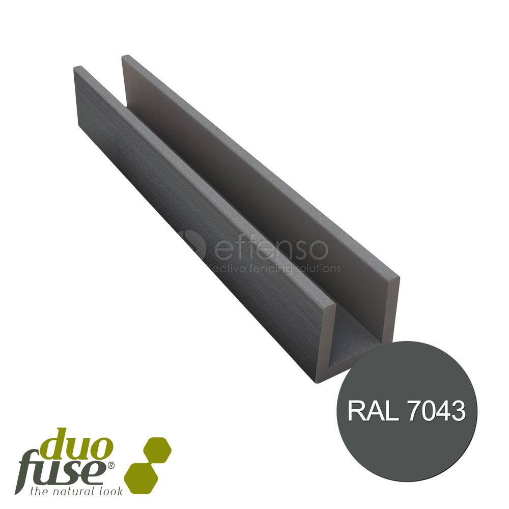 Duo Fuse U-profiel 27mm L:202cm graphite black
