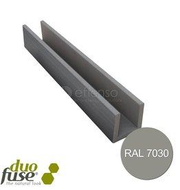 Duo Fuse U-profiel 27mm L:202cm stone grey