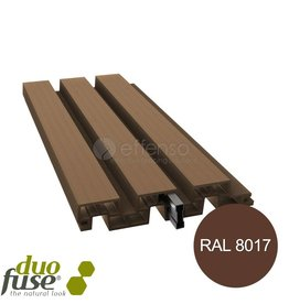 Duo Fuse profielplank 200mm L:200cm tropical brown