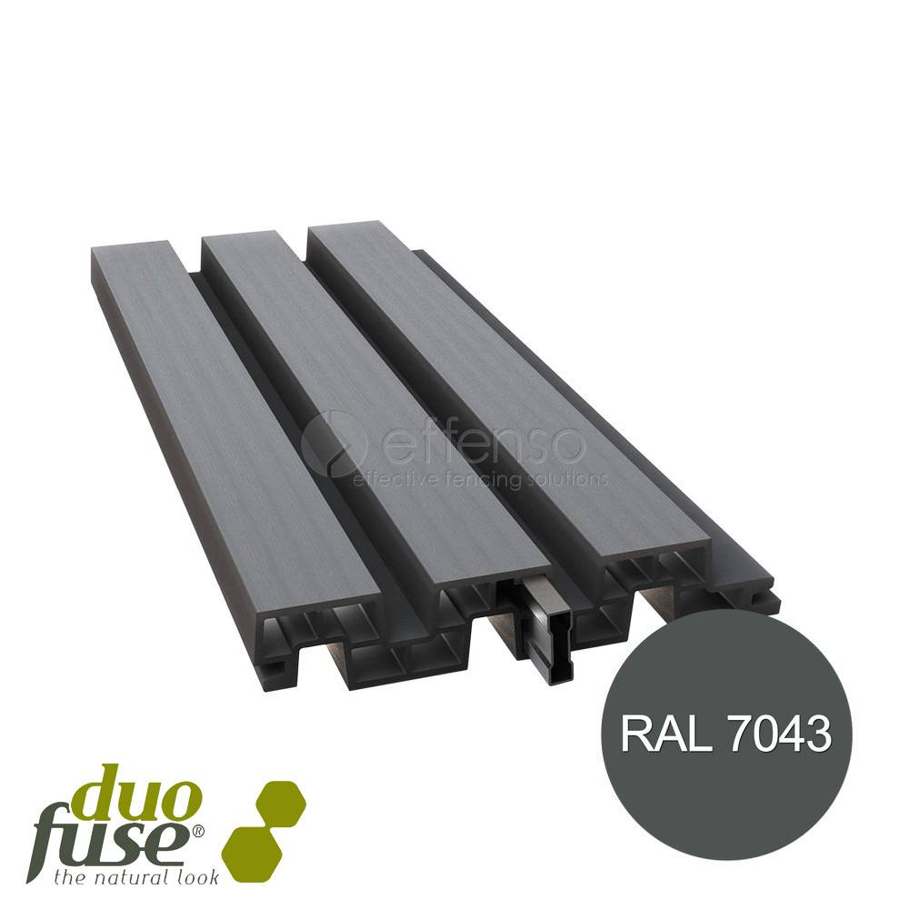 Duo Fuse profielplank 200mm L:200cm graphite black