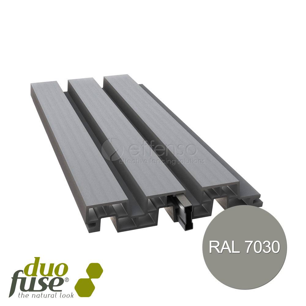 Duo Fuse profielplank 200mm L:200cm stone grey