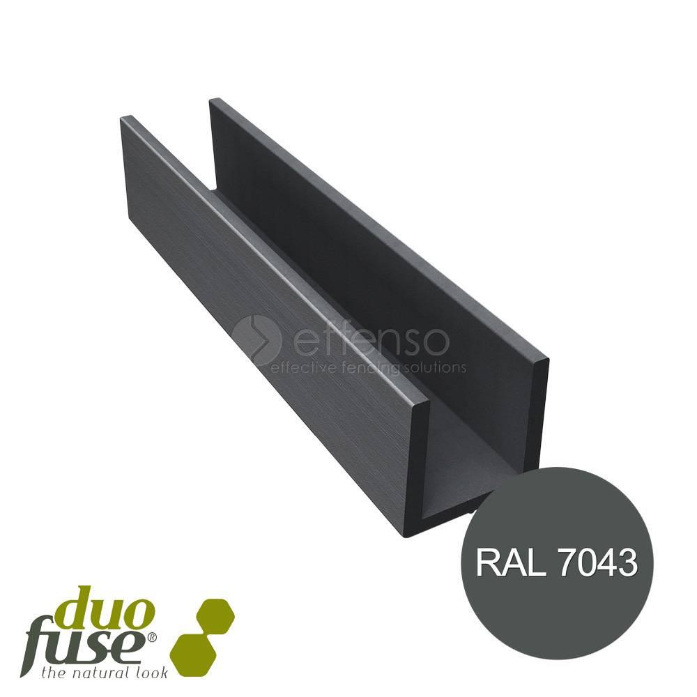 Duo Fuse U-profiel 40mm L:202cm graphite black