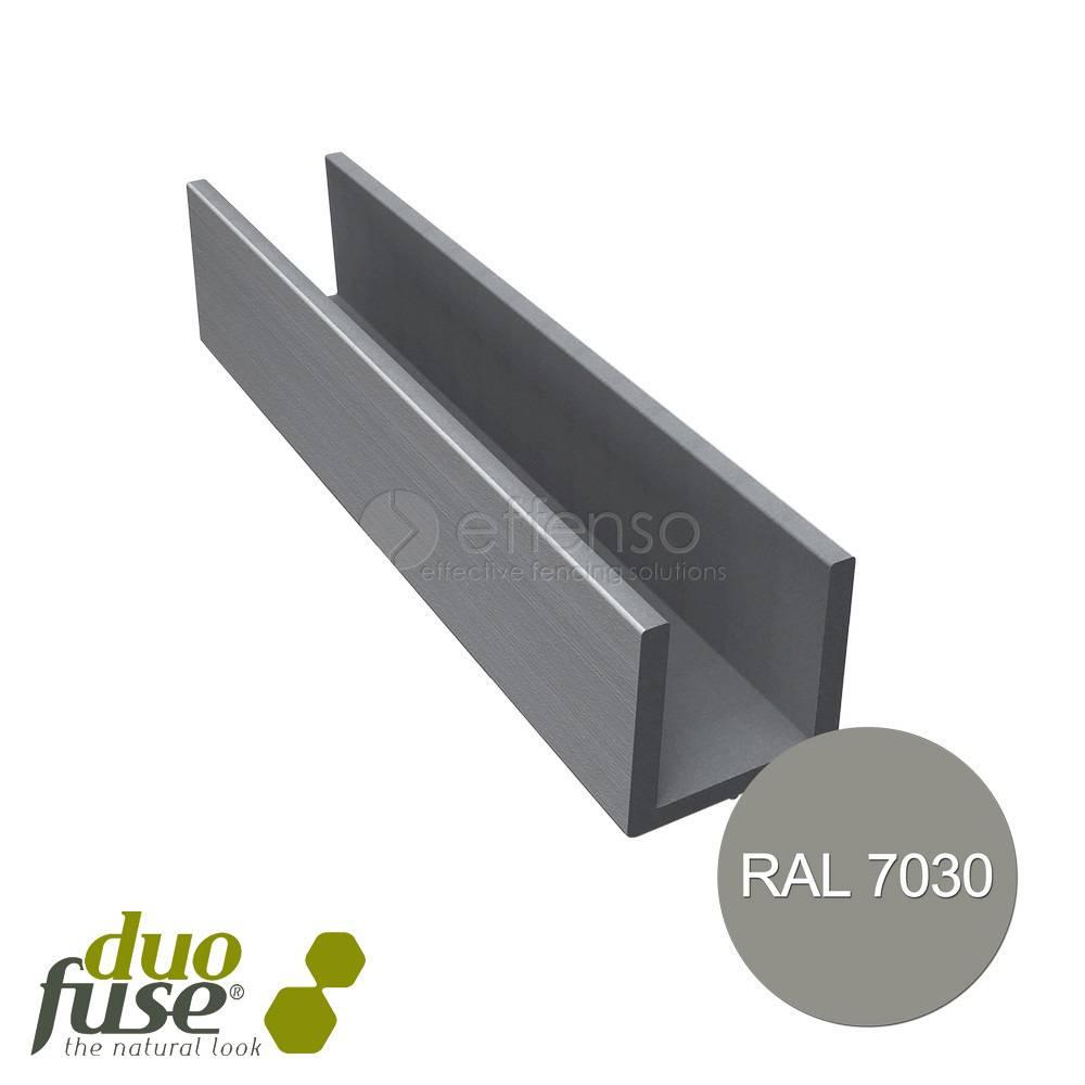 Duo Fuse U-profiel 40mm L:202cm stone grey