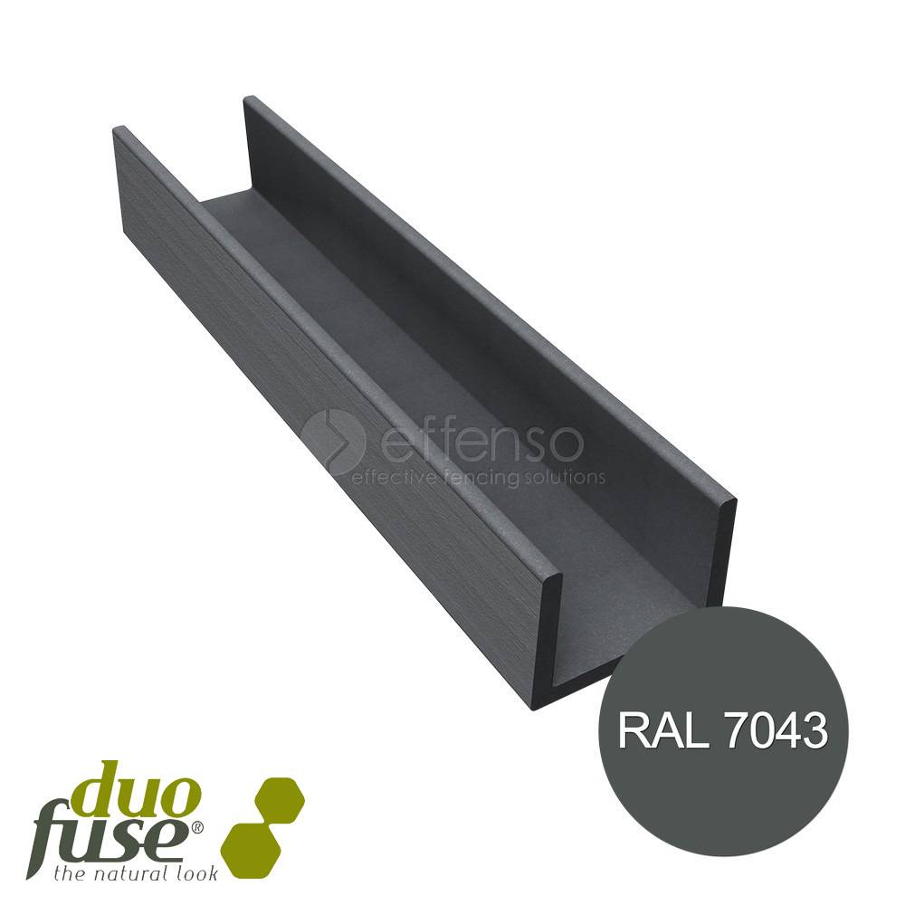 Duo Fuse U-profiel 42mm L:182cm graphite black