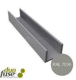 Duo Fuse U-profiel 42mm L:182cm stone grey