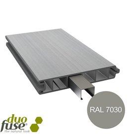 Duo Fuse Vlakke plank tand en groef L:180cm stone grey