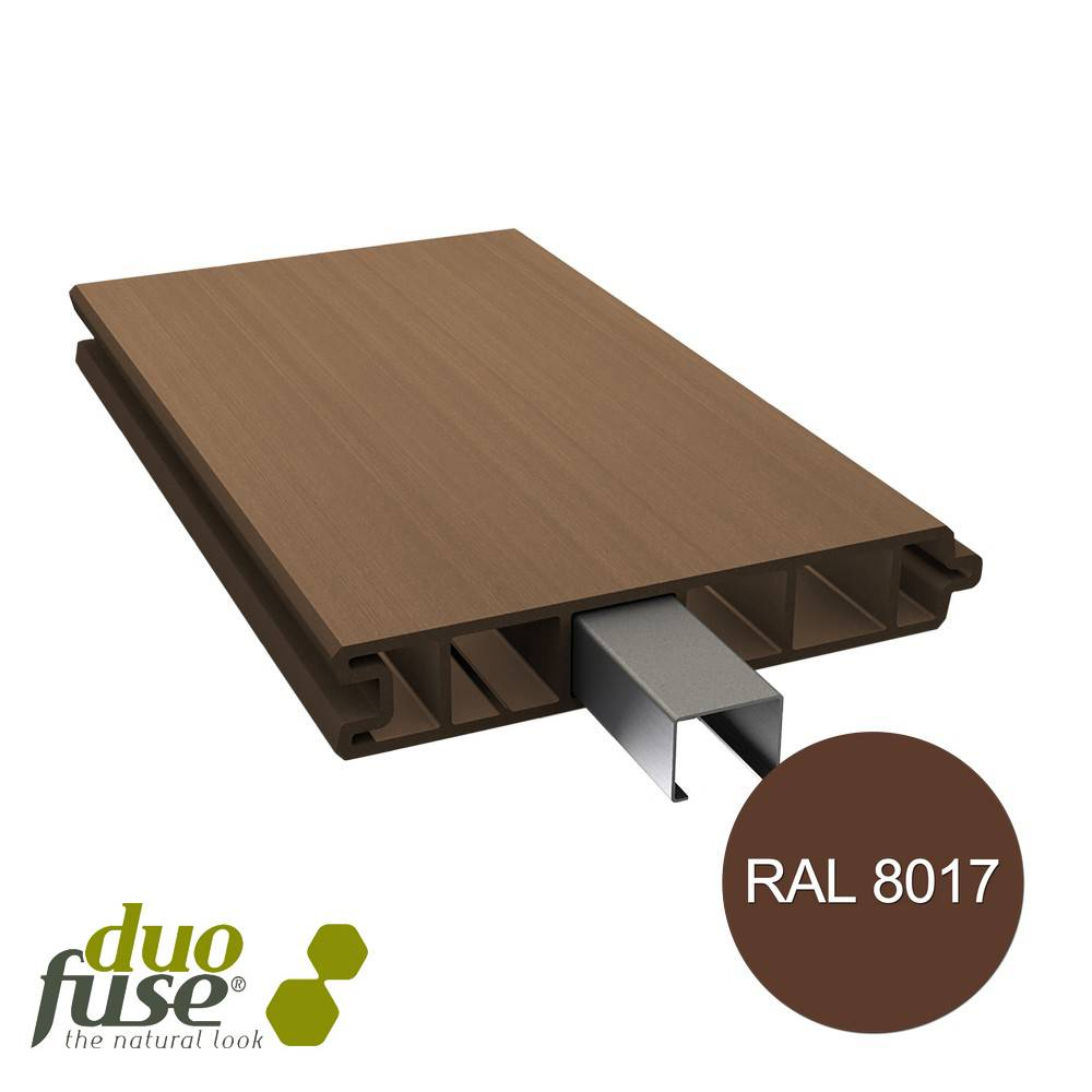 Duo Fuse Vlakke plank tand en groef L:200cm tropical brown