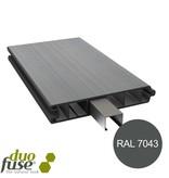 Duo Fuse Vlakke plank tand en groef L:200cm graphite black