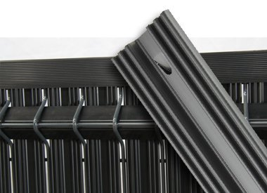 Rigid PVC slats for 3D panels