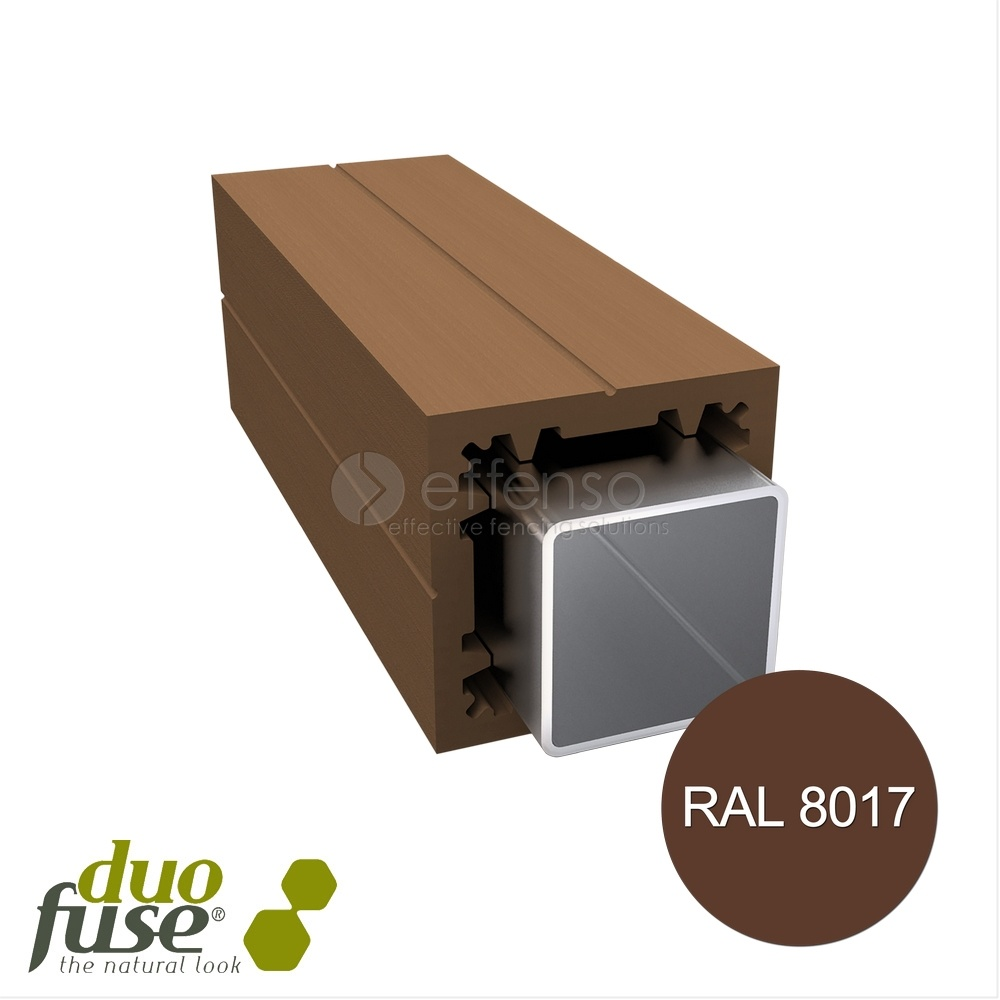 Duo Fuse Poortpaal L:300cm tropical brown