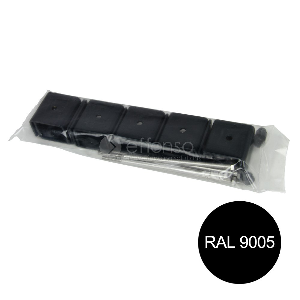 fensofill EASYFIX beugels paal 120x40 Zwart 9005 5st