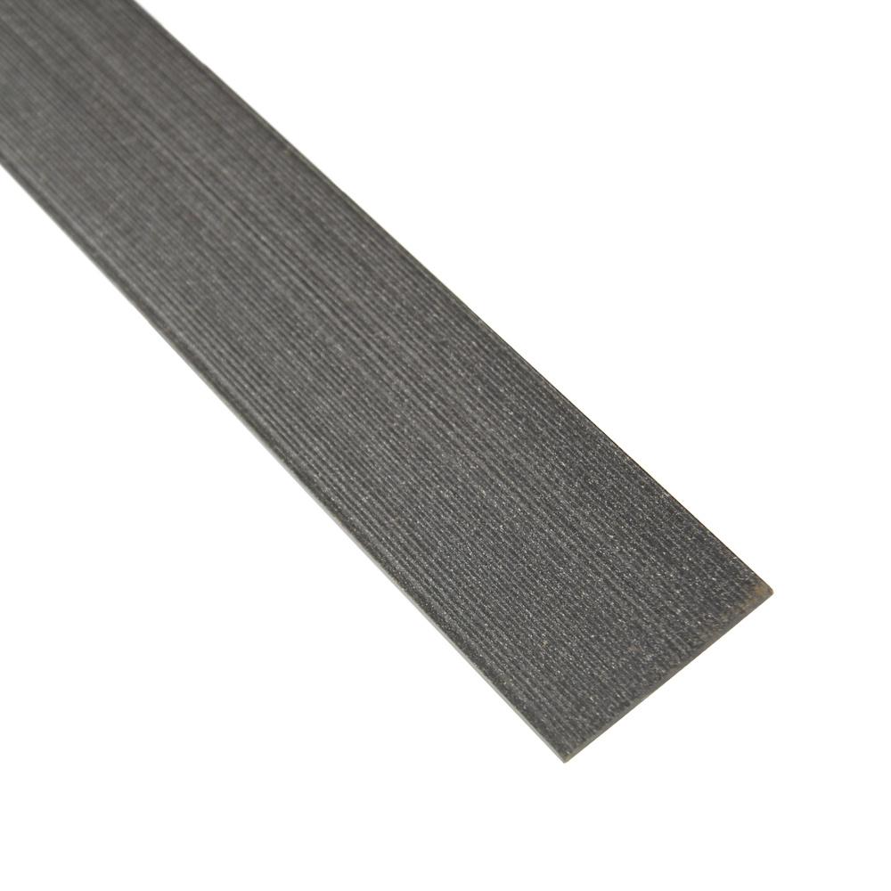 fensoplate composite Fensoplate Composite Plat Occultant 43 Graphite Black 163 cm