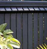 fensoplate composite Fensoplate Composite Slat 43mm H:163 cm Graphite Black